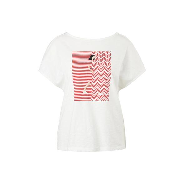 Flammgarnshirt mit Frontprint - Printshirt