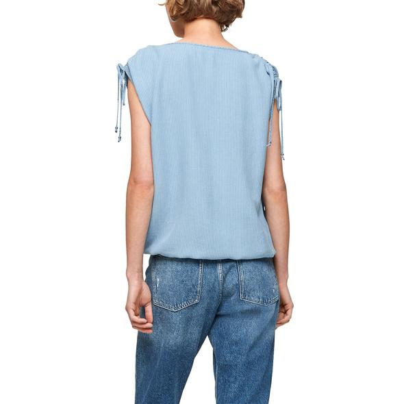 Light Denim-Shirt mit Streifen - T-Shirt