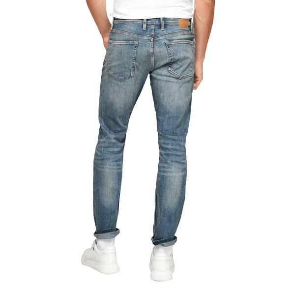 Slim: Jeans mit Waschung - Denim