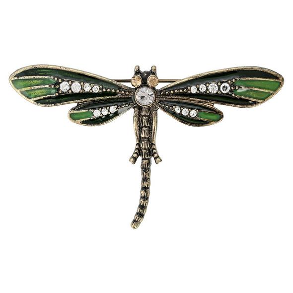 Brosche - Green Dragonfly