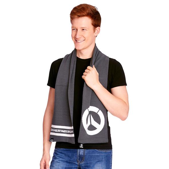 Overwatch - Logo Schal grau
