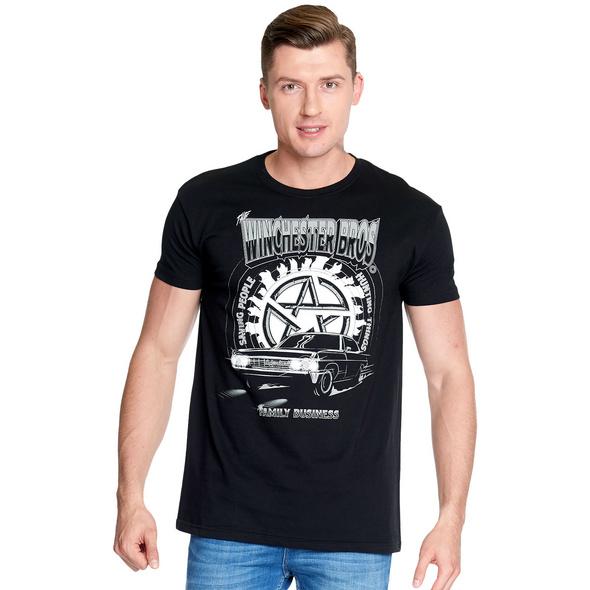 Supernatural - Winchester Bros T-Shirt schwarz