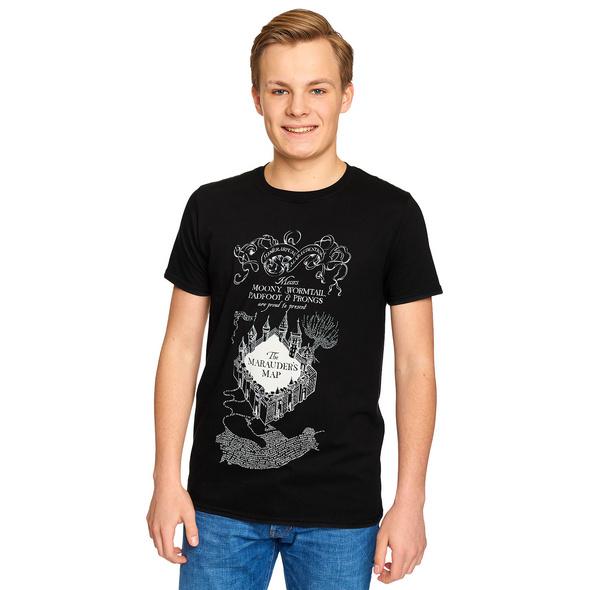 Harry Potter - Karte des Rumtreibers T-Shirt schwarz