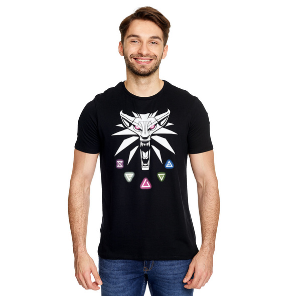 Witcher - Hexer Zeichen T-Shirt schwarz