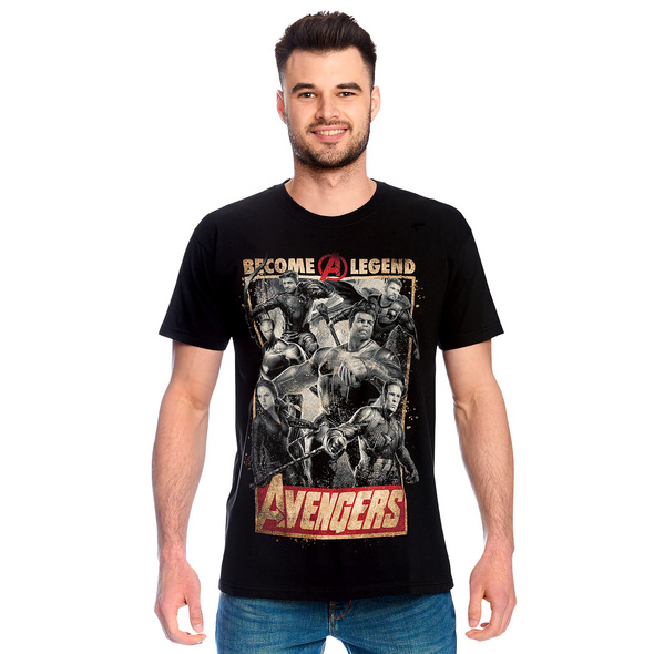 Avengers - Become A Legend Poster T-Shirt schwarz