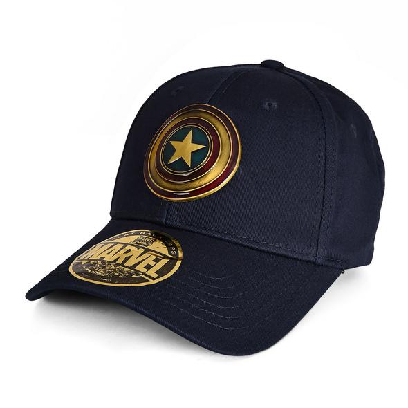 Captain America - Shield Metall Logo Basecap blau