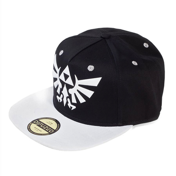 Zelda - Hyrule Logo Snapback Cap schwarz-weiß