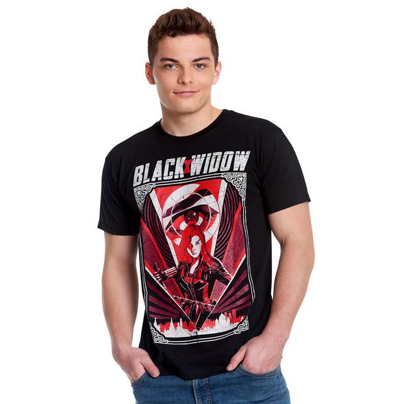 Black Widow - Eye in the Sky Movie T-Shirt schwarz
