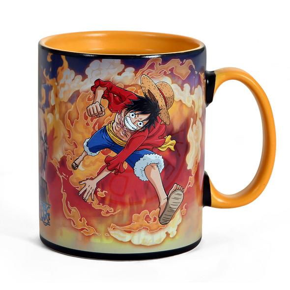 One Piece - Sabo und Luffy Thermoeffekt Tasse
