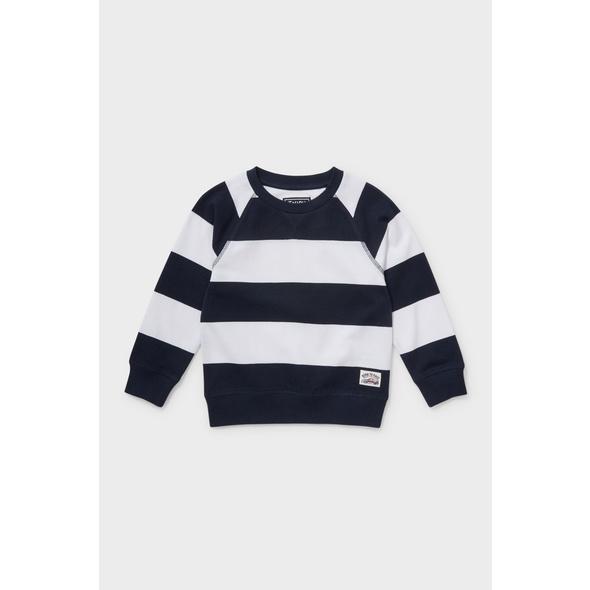 Sweatshirt - Bio-Baumwolle - gestreift
