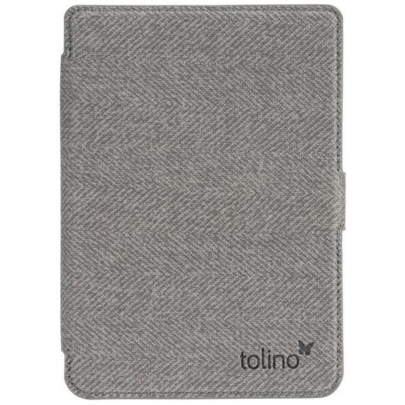 tolino shine 3 - Slimtasche - grau/rot