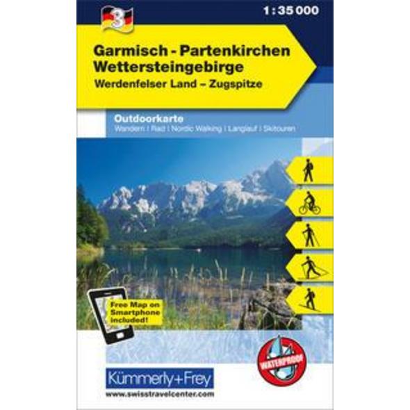KuF Deutschland Outdoorkarte 03. Garmisch - Partenkirchen, Wettersteingebirge 1 : 35.000