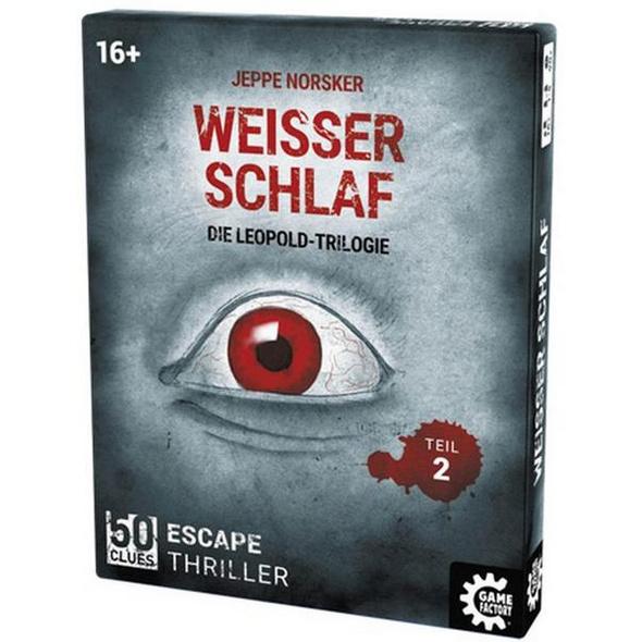 Carletto 646257 - 50 Clues, Weisser Schlaf, Die Leopold-Trilogie, Teil 2, Escape-Thriller, Krimi-Spiel