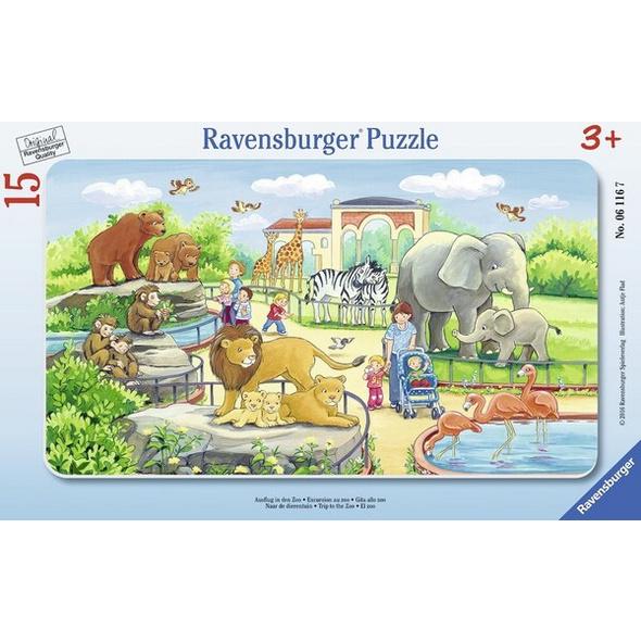 Ravensburger Ausflug in den Zoo,Rahmenpuzzle
