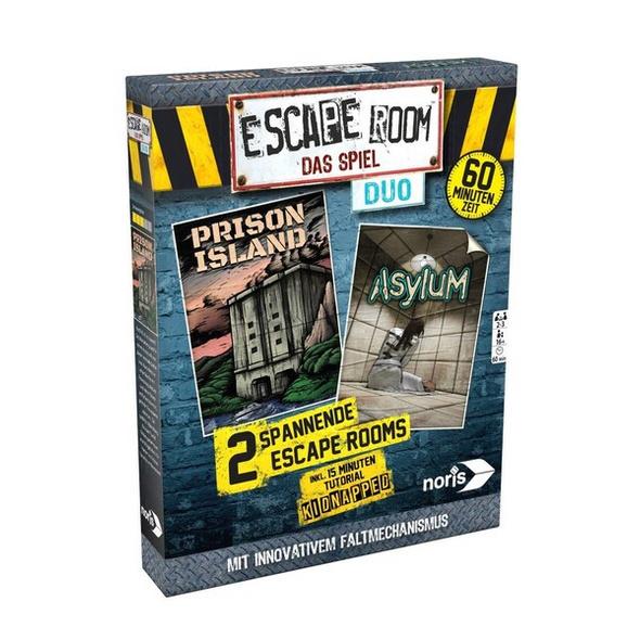 Noris 606101838 - Escape Room das Spiel-Duo, inkl. 2 Fällen, Logik, Denkspiel, Familienspiel