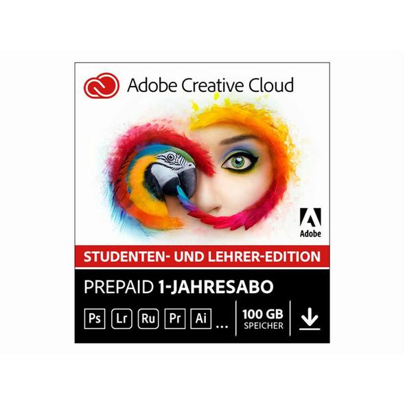 Adobe Creative Cloud Individual Mac, Software, Edu-Version, Aktivierungskarte