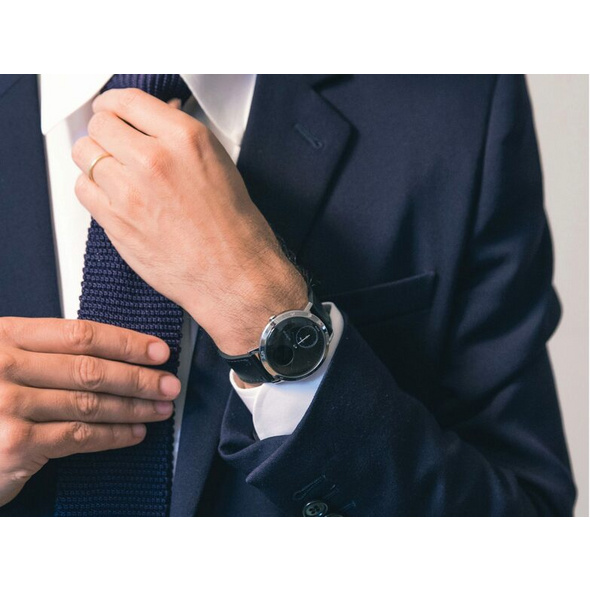 Withings Steel HR, Smartwatch und Fitnesstracker, 40 mm, schwarz