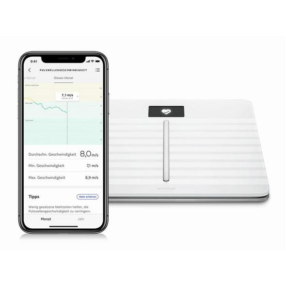 Withings Body Cardio, Körperanalysewaage, WLAN/Bluetooth, weiß
