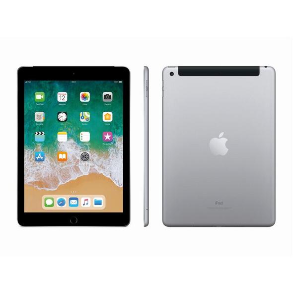 Apple iPad (2018), mit WiFi & Cellular, 128 GB, space grau