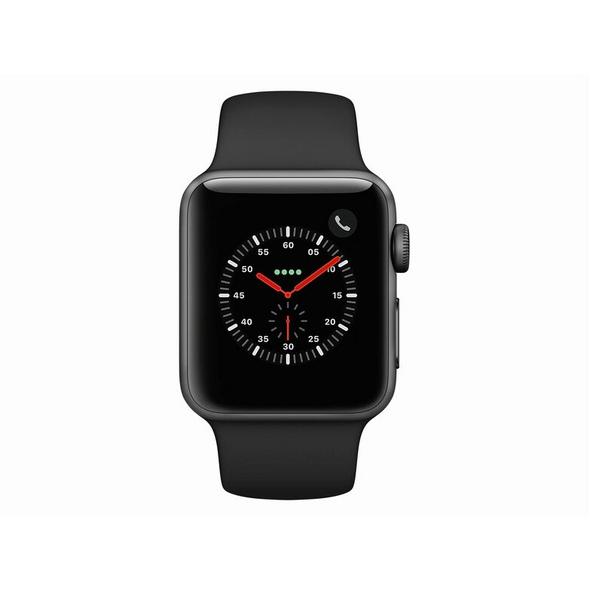 Apple Watch Series 3, GPS & Cellular, 38 mm Alu. space grau, Sportarmband schw.