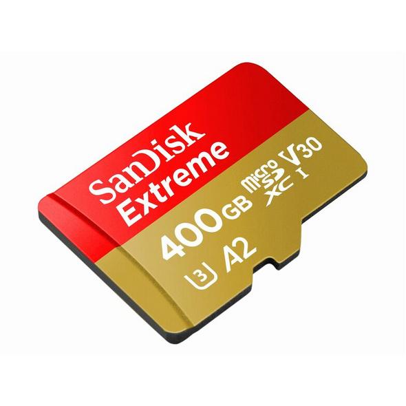 SanDisk Extreme, microSDXC Karte, A2, 400 GB, inkl. SD Adapter