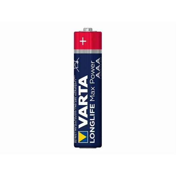 Varta Longlife Max Power, 1,5 Volt AAA Batterie, 4er-Pack, Alkali Mangan