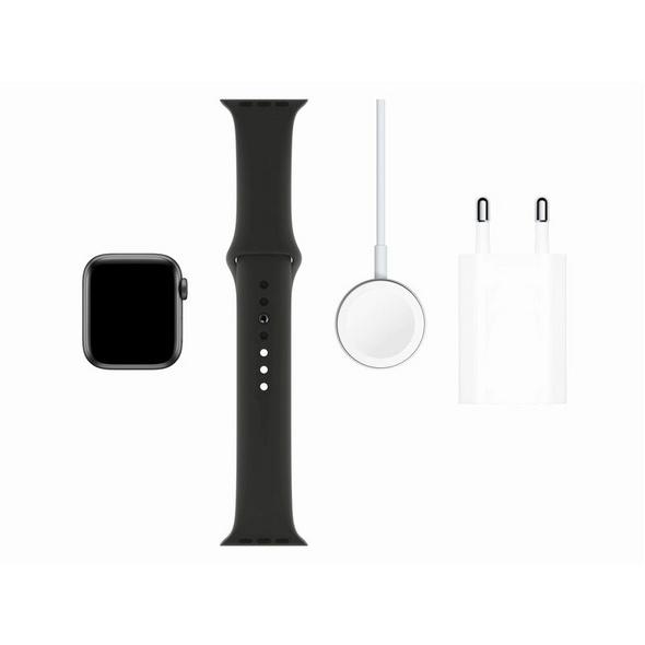 Apple Watch Series 5, GPS & Cellular, 40 mm, Alu. space grau, Sportb. schwarz