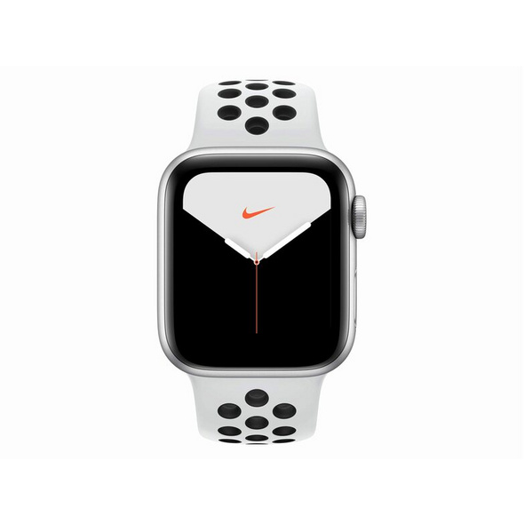 Apple Watch Series 5 Nike+, Cellular, 40 mm, Alu. silber, Sportb. platinum/Blk