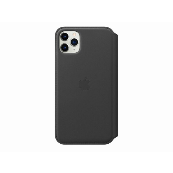 Apple Leder Folio Case, für iPhone 11 Pro Max, schwarz