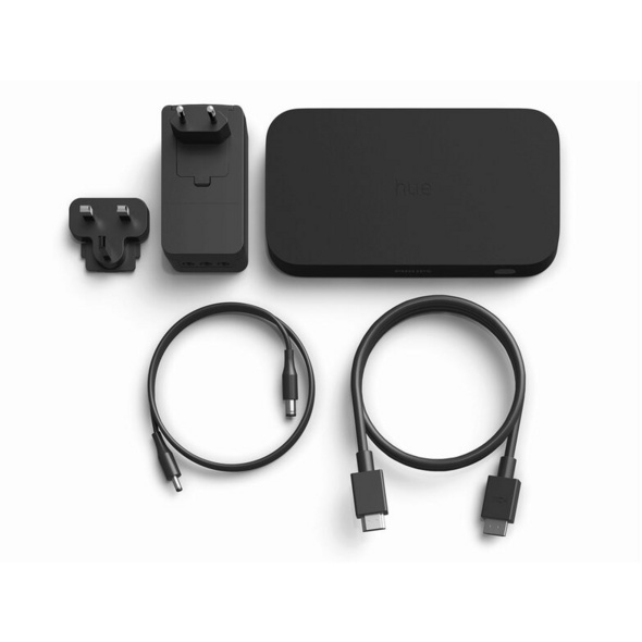 Philips Hue HDMI Sync Box, für bis zu 4 HDMI-Geräte, WLAN, schwarz