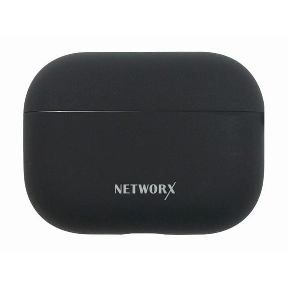 Networx Silikon Case, Silikon-Schutzhülle für AirPods Pro, schwarz