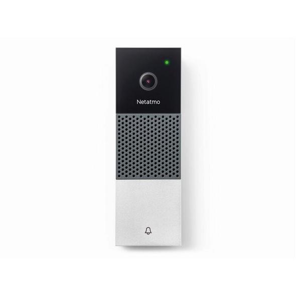 Netatmo Smarte Videotürklingel, WLAN, Apple HomeKit, schwarz-weiß