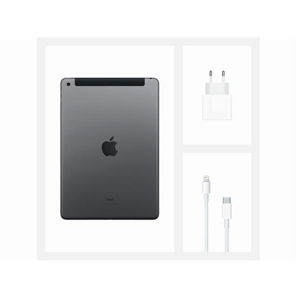 Apple iPad (2020), mit WiFi & Cellular, 128 GB, space grau