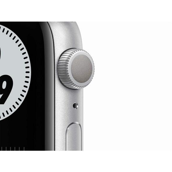 Apple Watch Nike Series 6, 44 mm, Alu. silber, Sportarmband platinum/schwarz