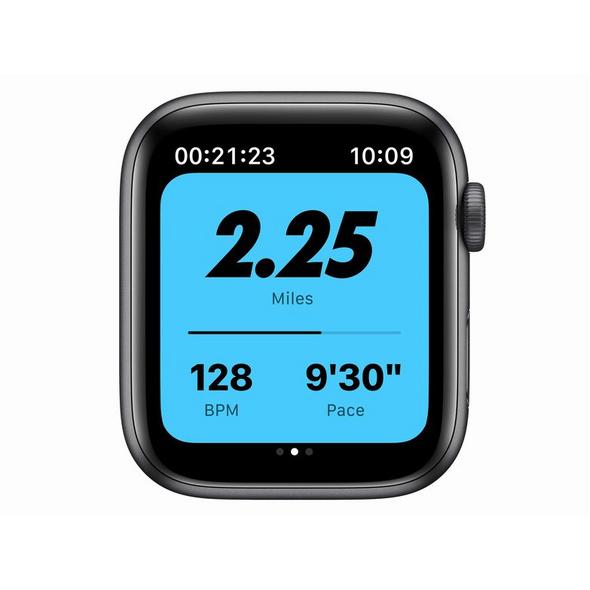 Apple Watch Nike SE, 44 mm, Aluminium space grau, Sportarmband anthr./schwarz