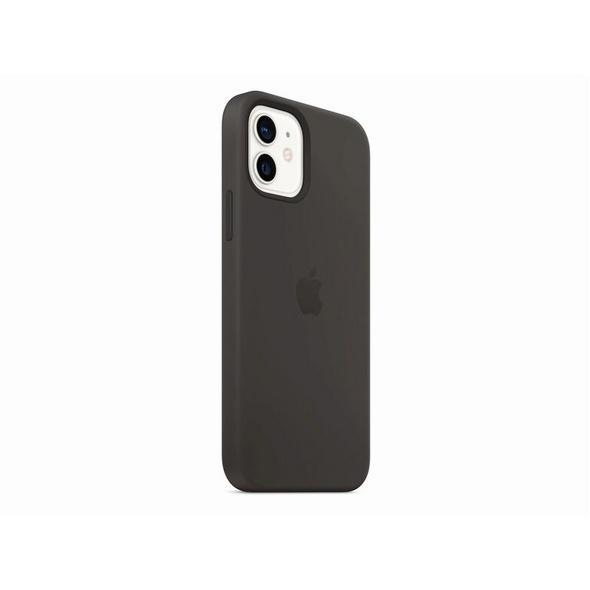 Apple Silikon Case mit MagSafe, für iPhone 12/12 Pro, schwarz