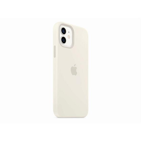 Apple Silikon Case mit MagSafe, für iPhone 12/12 Pro, weiß