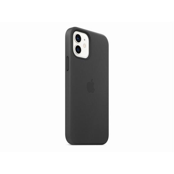 Apple iPhone Leder Case mit MagSafe, für iPhone 12/12 Pro, schwarz