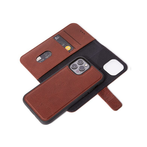Decoded Detachable Wallet, MagSafe Schutzhülle f. iPhone 12 Pro Max, braun