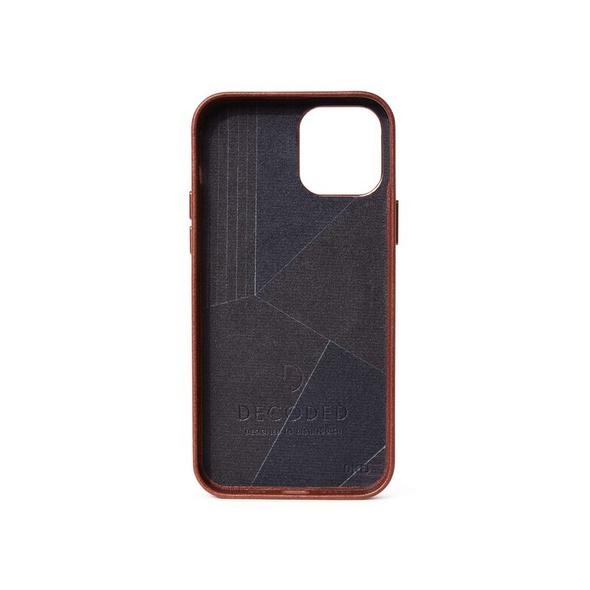 Decoded Backcover, Leder-Schutzhülle mit MagSafe, für iPhone 12/12 Pro, braun