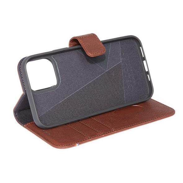 Decoded Detachable Wallet, MagSafe Leder-Schutzhülle f. iPhone 12 mini, braun