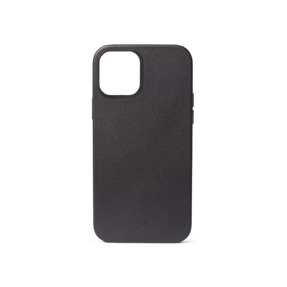 Decoded Backcover, Leder-Schutzhülle mit MagSafe, f. iPhone 12 Pro Max, schwarz