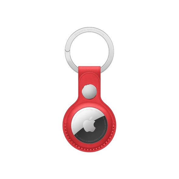 Apple AirTag Schlüsselanhänger, aus Leder, rot