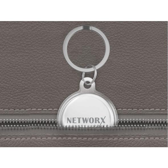 Networx AirTag Case, Anhänger mit Schlüsselring für Apple AirTag, transparent