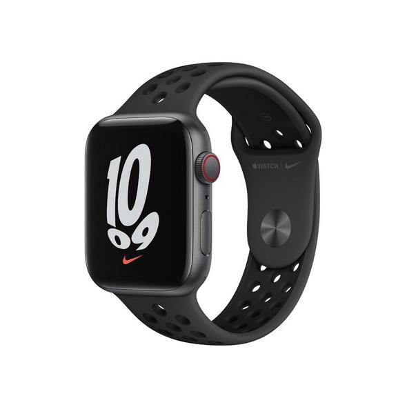 Apple Watch Nike SE, GPS & Cellular, 44 mm, Alu. grau, Sportb. anthr./schwa.