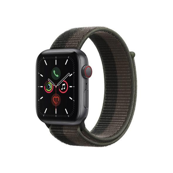 Apple Watch SE, GPS & Cellular, 44 mm, Alu. space grau, Sportloop tornado/grau