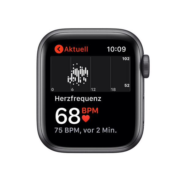 Apple Watch Nike SE, 40 mm, Alu. space grau, Sportarmband anthr./schwarz