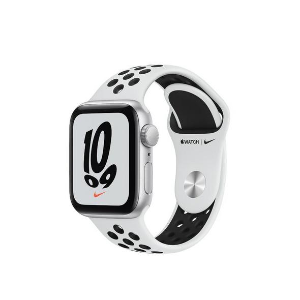 Apple Watch Nike SE, 40 mm, Alu. silber, Sportarmband platinum/schwarz