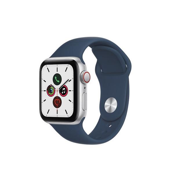 Apple Watch SE, GPS & Cellular, 40 mm, Alu. silber, Sportarmband abyssblau