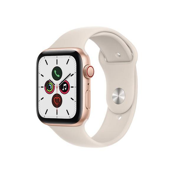 Apple Watch SE, GPS & Cellular, 44 mm, Aluminium gold, Sportarmband polarstern